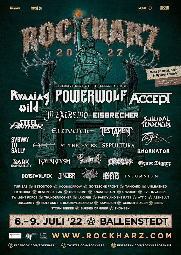 Festival-Flyer RHZ 2022, Quelle: https://www.rockharz-festival.com/